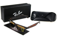 Ray Ban Clubmaster Sunglasses Crimson Leopard Frame Brown Lens