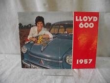 Prospekt Lloyd 600 1957