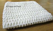 BABY BLANKET CROCHET PATTERN. White. Utterly gorgeous and soft. 3 size pattern!