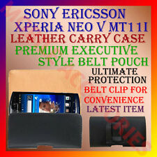 ACM-BELT for SONY ERICSSON XPERIA NEO V MT11i LEATHER CARRY CASE POUCH CLIP NEW