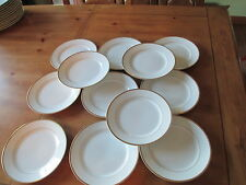 SET OF 12 ANTIQUE NORITAKE NIPPON RC MARK MIKADO WHITE & GOLD SALAD PLATES  7.5""