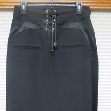 Dsquared2 black wool blend skirt italy size 46