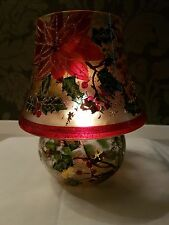 Tealight Candle Lamp 18cm - Christmas Flower