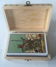 Rider Waite Original Tarot Cards NEW & SEALED WOODEN HANDCRAFTED TAROT CARD BOX