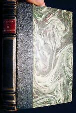 1928 ANATOLE FRANCE LE LYS ROUGES NICE LEATHER & MARBLED BOARDS BINDING