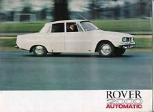 1965-66 ROVER P6 2000 AUTOMATIC British 4 Page Brochure