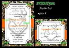 50 Camo Wetland Grass Hunt Deer Duck Hunting Custom Wedding Invitations Set 118