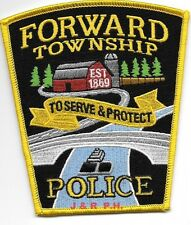 "Forward Township, PA  1869 (4"" x 4.5"" size)  shoulder police patch (fire)"
