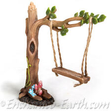 New Vivid Arts Miniature World Tree Swing /Fairy Garden Fairy Woodland swing