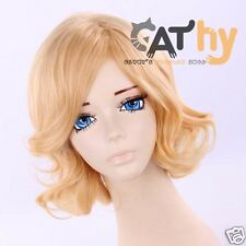 APH Hetalia Axis powers France Wavy Anime Cosplay Costume Wig +CAP+Free TRACK