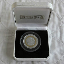 BRITISH VIRGIN ISLANDS 2007 BI-METAL $5 GOLD & SILVER PROOF - boxed