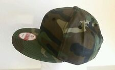 New Era 9Fifty Flat Snapback Hat Cap Blank Camouflage Army Camo Military 9FIFTY