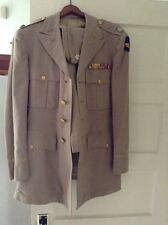 Vintage WWII US Army Air Corps Kacki Set Officer Pilot Uniform Jacket Pant Hats