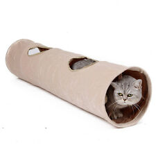 Cat Tunnel Toy Kitten Rabbit Play Funny Tunnel With Ball 2 Holes Suede Tunnels