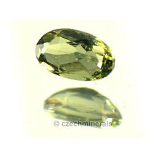 0.2cts oval standart cut 3x5mm moldavite faceted cutted gem #BRUS599