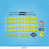 Cannondale F2000 Bicycle Decals - Transfers - Stickers - Yellow - Set 0637