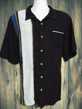 Paradise Collection Mens 2XL 100% Silk Bowling Shirt Multi-Color Button Up Shirt