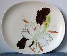"Red Wing Pottery ~ ""Lotus Bronze"" ~ 13"" PLATTER with ROUNDED CORNERS ~ 1940s"