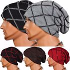 Unisex Mens Slouch Baggy Oversized Winter Warm Ski Beanie Hat Cap Rib Knitted