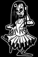 Girl Zombie Walking Dead Family Vinyl Decal Sticker