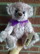 "OOAK Artist Jointed Purple Mohair Bear 12.5"" MINT W/TAGS MARTHA BURCH BUY NOW NR"