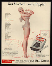 1940 OLD GOLD Cigarettes Sexy Pin-Up Pippin Fairy - GEORGE PETTY Art VINTAGE AD