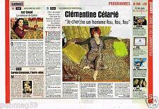 Coupure de Presse Clipping 1999 Clémentine Célarié