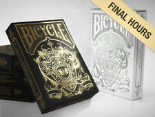 Set of 2 Bicycle Hundred Years of War Gold & Silver Playing Card Decks New
