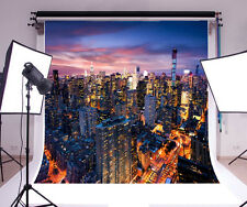 8x8ft New York City Night Photography Backgrounds Vinyl Photo Studio Backdrops
