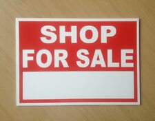 Shop for sale sign with space for own words.   (BL-104)