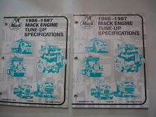 1986 1987 Mack 6 8 Cylindr 672 998 Engine TUNE-UP SPECIFICATIONS Service Manual