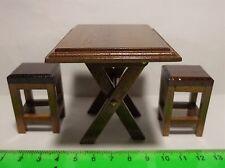 1:12 scala in legno pieghevole tavolo e sgabelli DOLLS HOUSE miniatura (quadrato)