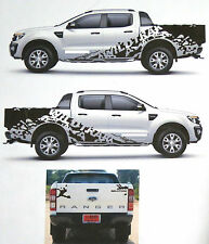 MATT BLACK WILDTRAK STICKER COVER CAR DECAL VINYL FOR FORD RANGER T6 12 13 14