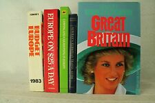 lot old travel books. Frommer's Europe guides Great Britain Princess Diana cover