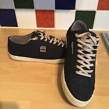 G-STAR RAW Mens Lo Canvas Trainers UK 8 US 9 EU 42 Navy VGC