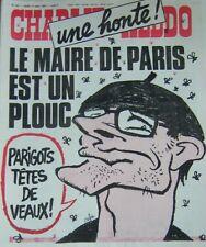 CHARLIE HEBDO No 331 MARS 1977  CABU UNE HONTE LE MAIRE DE PARIS EST UN PLOUC