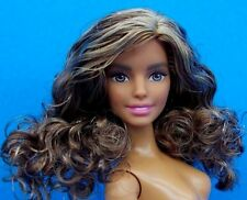 2016 Barbie Nude Fashionistas Pink Passport Teresa Doll Curly Hair Dark Skin