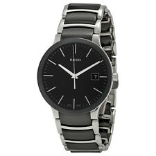 Rado Centrix Black Dial Stainless Steel and Black Ceramic Mens Watch R30934162