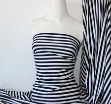 Black/White Stripes Lycra/Spandex 4 way stretch Matt Finish Fabric