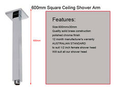 Square Brass Ceiling Mount Shower Arm 600mm