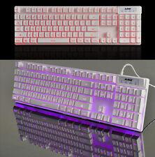 Blue/Red/Purple LED Ajazz Cyborg Soldier Backlit Ergonomic Usb Gaming Keyboard