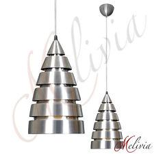 Pendelleuchte Rakete Silber Ø18 cm Hängelampe Modern Deckenlampe E27 Chrom Lampe