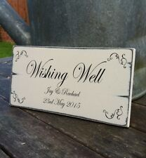 Distressed chic 'wishing Well Personalised shabby wedding sign plaque