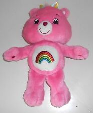"2007 Care Bears  -  'Glo in the Dark' CHEER BEAR  -  14"" Plush Toy (GX3)"