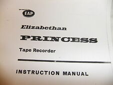 Instructions REEL to REEL tape player ELIZABETHAN PRINCESS  CD/EMail