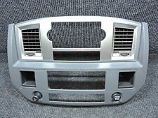 2006-2008 DODGE RAM Silver Slate Main Center Dash Radio HVAC Controls Trim Bezel