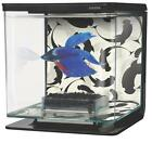 Marina Betta Aquarium Kit Fish Tank Betta Bowl 1/2 Gallon Ying/Yang #13348