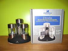 PEUGEOT *NEW* Set 2 moulins poivre et sel électriques rechargeables H.10,5cm