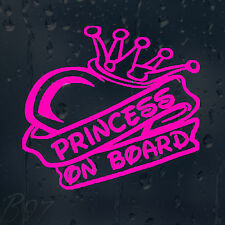 Princess On Board Car Window Windscreen Body Panel Laptop Decal Vinyl Sticker