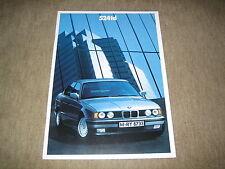 BMW 5er 524td E34 Limousine Prospekt Brochure von 2/1990, 34 Seiten